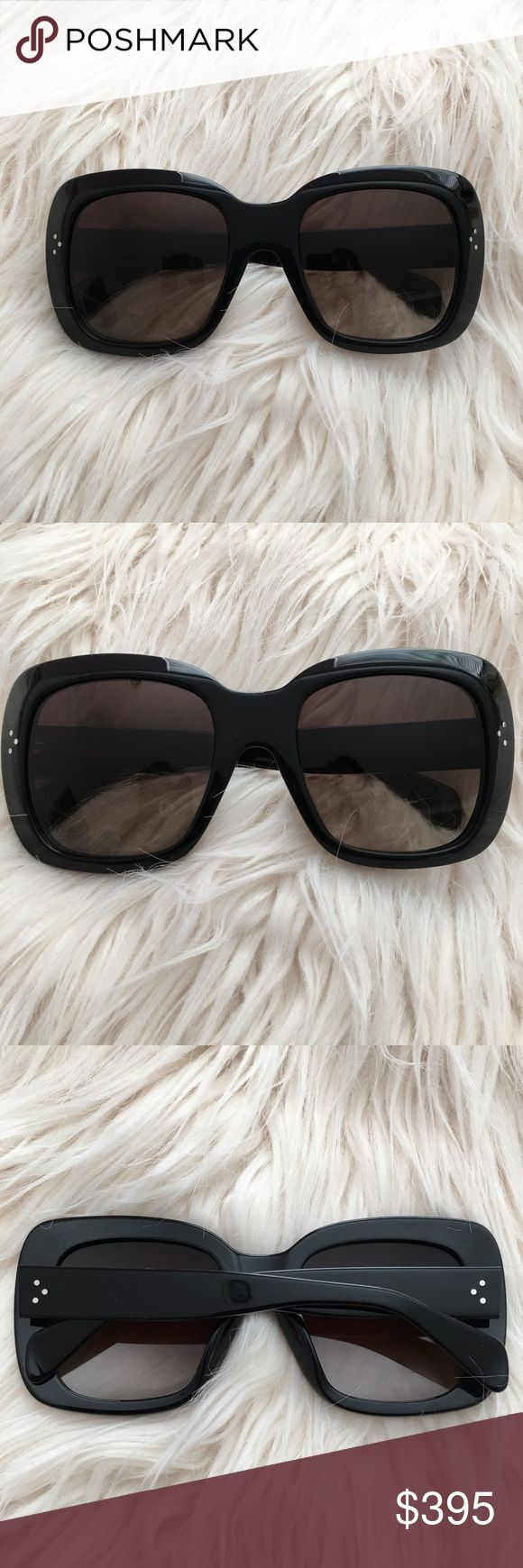 Black Large Square Oversized Celine Sunglasses Brand new without tags. More info and pics on my Tradesy listing! ---------------- For discounts and FREE shipping, buy this from my Tradesy closet. ➕ https://www.tradesy.com/closet/leslielove/ ➕ Even bigger discounts directly through 🅿️🅿️ Celine Accessories Sunglasses
