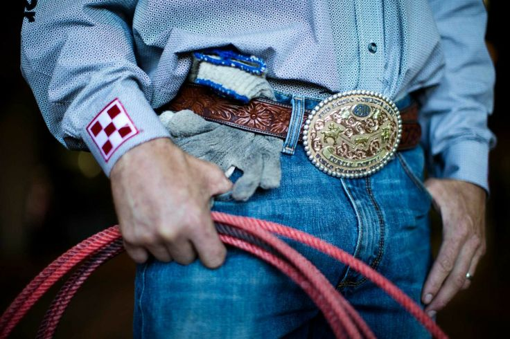 On HoustonChronicle.com: Rodeo competitors show their pride with trophy buckles. Team roper Turtle Powell wears his 2011 World Champion Header buckle for the 2014 Houston Rodeo.