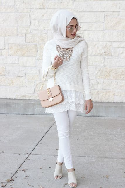 White on white hijab- Hijab looks by Sincerely Maryam…