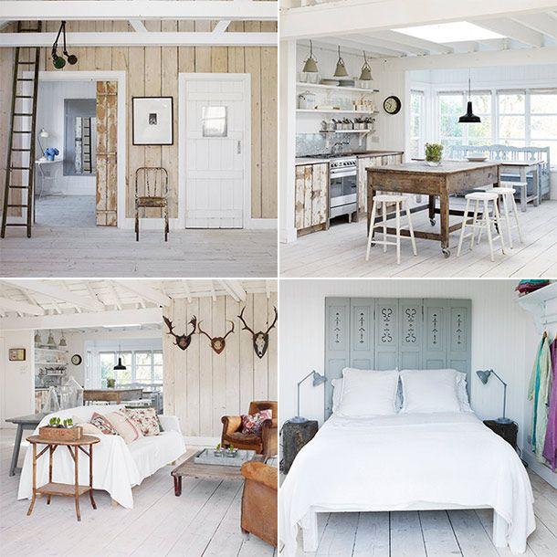 In een huisje met de naam 'The White Cabin' speelt wit natuurlijk een hoofdrol. Het is dan ook de tint die de wanden, vloeren en plafonds hebben in dit kusthuisje. Door dit te combineren met de kleur van verweerd hout, ontstaat een prachtig, rustgevend interieur. Benieuwd hoe dat eruit ziet? Bekijk snel alle foto's!