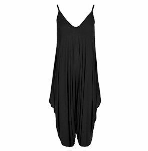 Neuf Femmes Caraco Lagenlook Barboteuse En Vrac Combinaison Sarouel Combinaison Pantalon Grande Taille – Femmes, Noir, M/L – 40/42