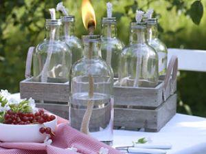 Einfache und günstige Öllampe für die Abendstunden