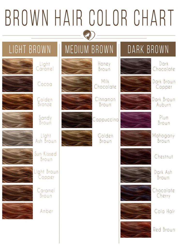 24 Brauntöne Farbkarte für jeden Teint