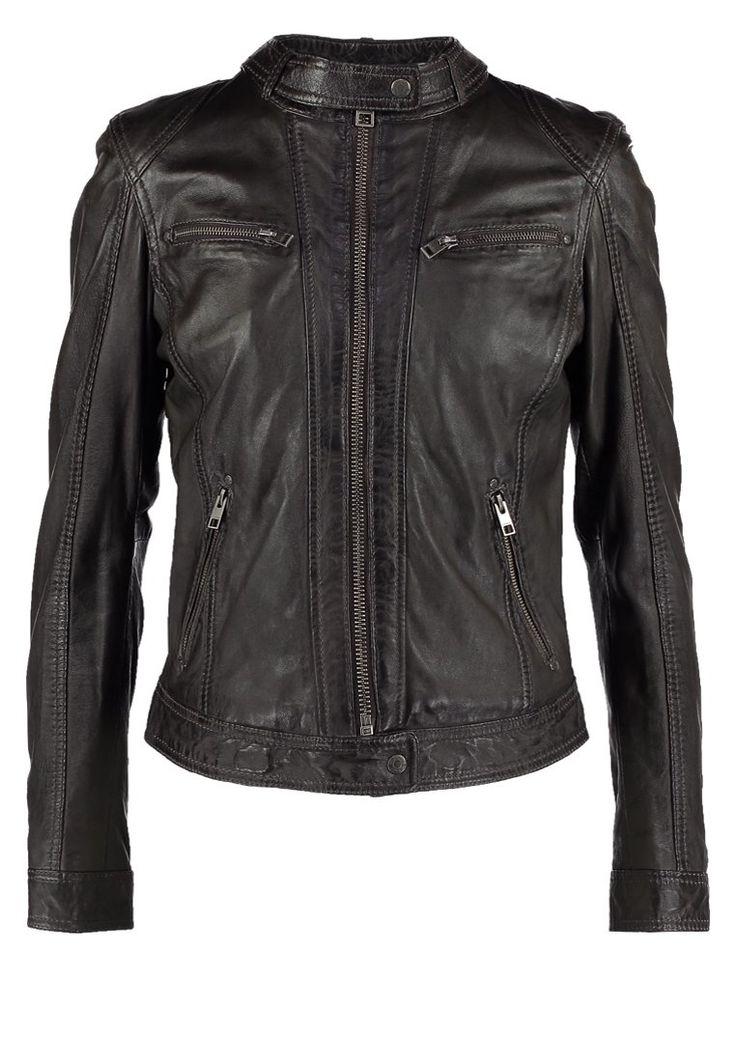 Oakwood Lederjacke gris fonce Bekleidung bei Zalando.de | Material Oberstoff: 100% Leder | Bekleidung jetzt versandkostenfrei bei Zalando.de bestellen!