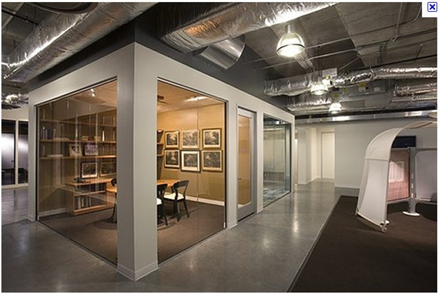 Glas walls look great but might not be the best idea for creative minds.