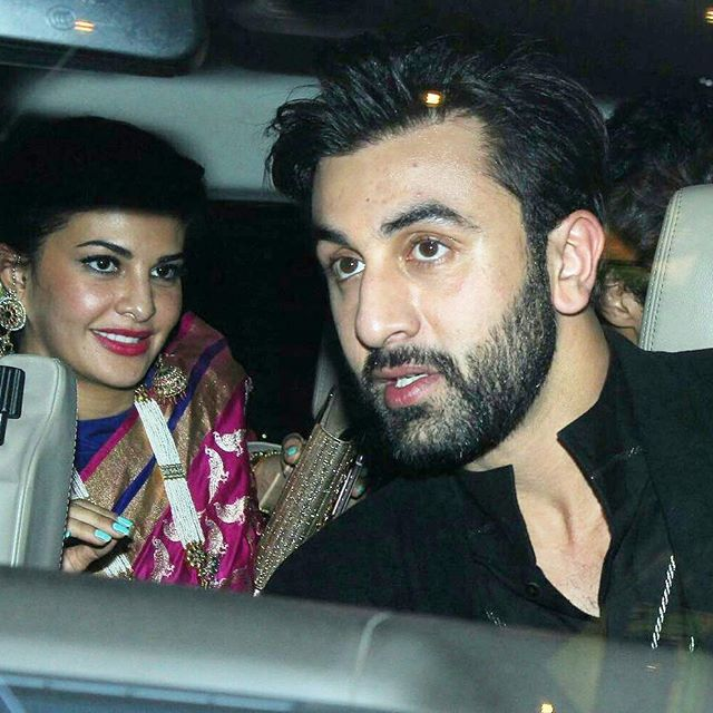 Jacqueline Fernandez and Ranbir Kapoor arriving for a party recently.  @InstantBollywood ❤ ❤ ❤ ❤