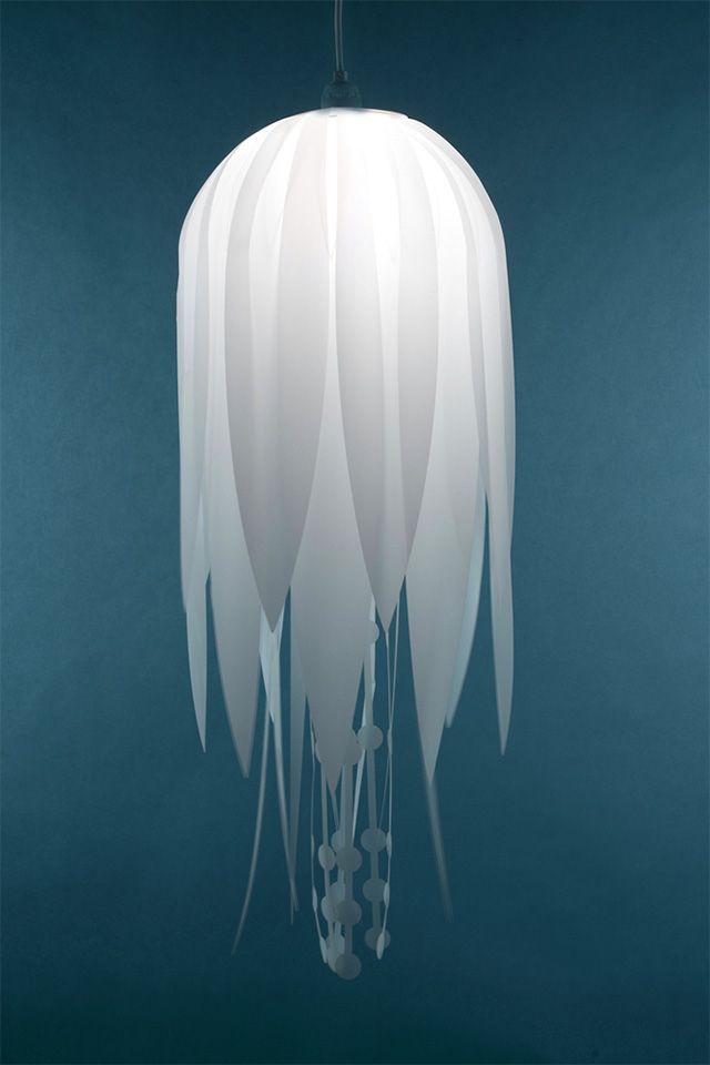 Mylar Lamps Mimic Freshwater Jellyfish lighting jellyfish