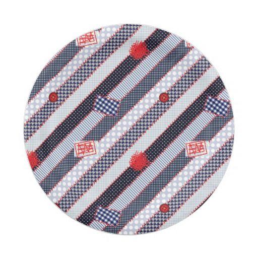 Patchwork Quilt Multicolored Gingham Paper Plate  sc 1 st  Pinterest & 45 best Paper Plates \u0026 Paper Napkins images on Pinterest | Paper ...