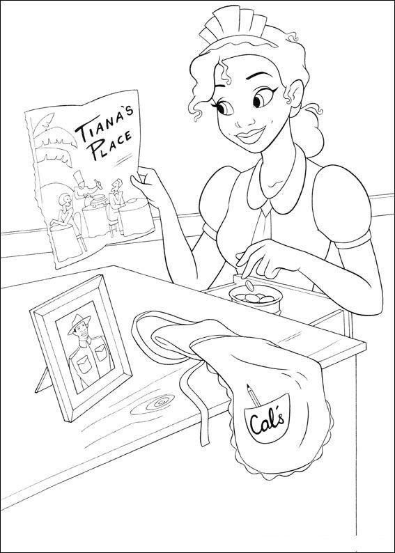 Disegni Di Tiana De La Principessa E Il Ranocchio Da Colorare