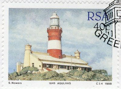 aghullas lighthouse - South African Lighthouses - stamos