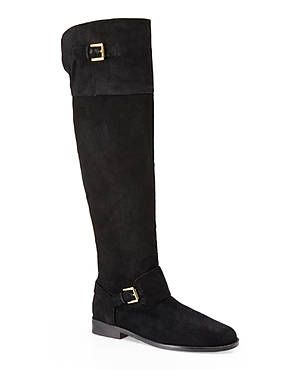 LAUREN RALPH LAUREN Black Jeannette Over-The-Knee Boots