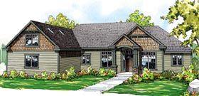 Cape Cod Cottage Craftsman Ranch House Plan 59429 Elevation