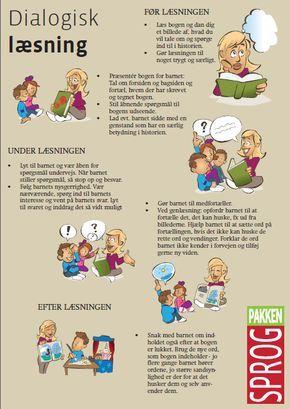 Dialogisk læsning er nok den mest effektive både at lære sproget på, men det er også en fantastisk måde at opleve en historie på. Det gør højtlæsning både spændende, levende og medrivende. Fra Sprogpakken.