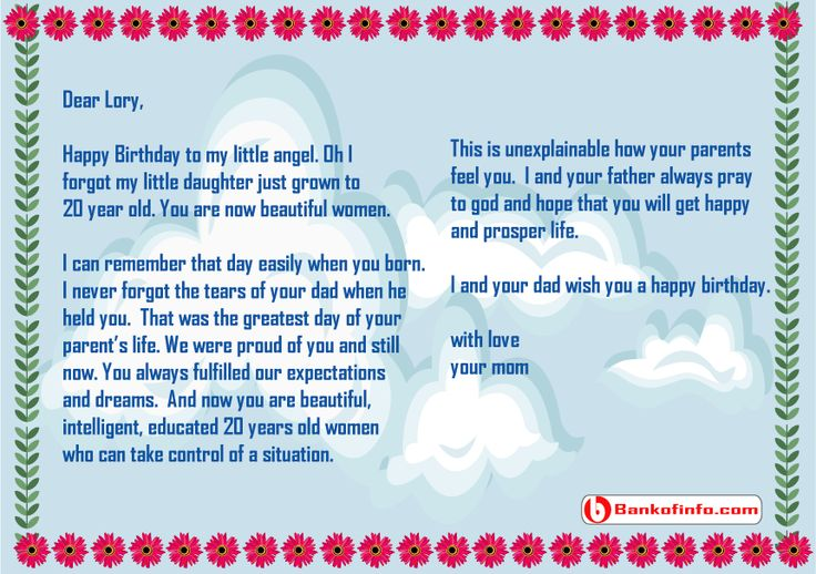 happy birthday letter to daughter from mom 31 best images about letter on letter sample 17773