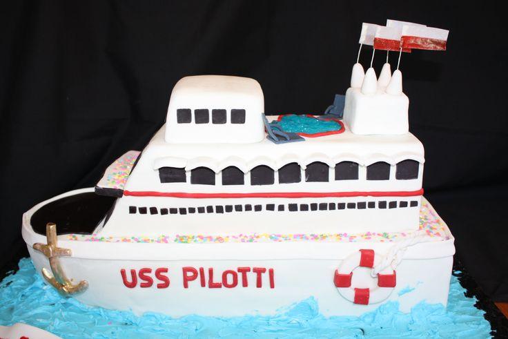 ship cruise birthday cake - tfl