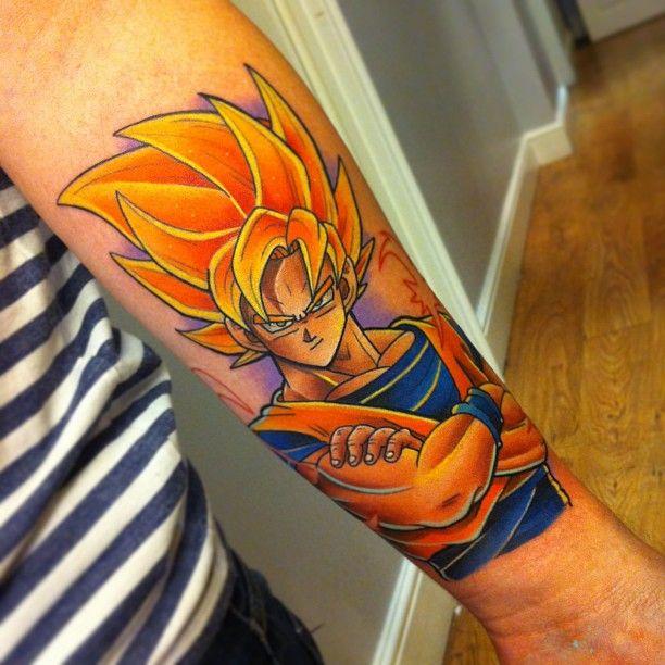 Goku Tattoo By Andy Walker DBZ