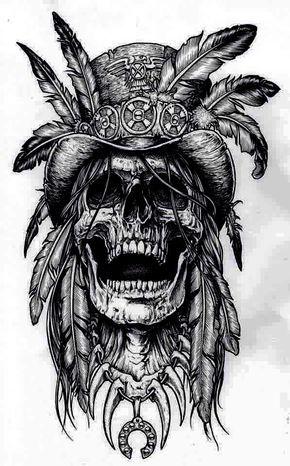 Resultado de imagem para tattoo skull