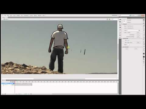 How to trace , video paint or rotoscope over video using Adobe Flash Cs5 Professional - YouTube