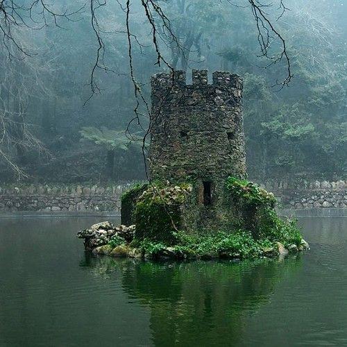 abandoned Celtic castle ruin