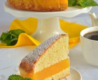 Jogurtowe ciasto z musem brzoskwiniowym - łatwe, szybkie i tanie