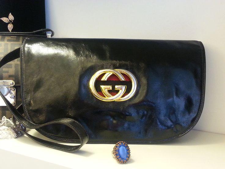 Borsa Vintage in pelle lucida Gucci