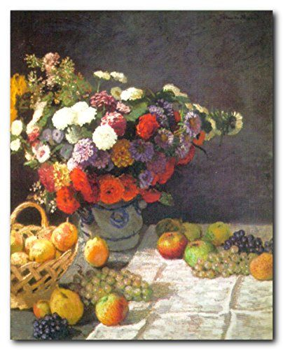Transform the look of your living space, bedroom or living room with this beautiful bunch of colorful flowers with fruits still life wall picture art print poster. This wall poster displays the image of beautiful flowers and fresh fruits lying in a dinner table which makes a perfect accompaniment your dining area. It adds a contemporary charm to your decor. Hurry up and grab this wonderful wall poster for its durable quality and high degree of color accuracy.