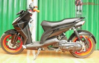 Modifikasi Motor Honda Beat Model Low Rider