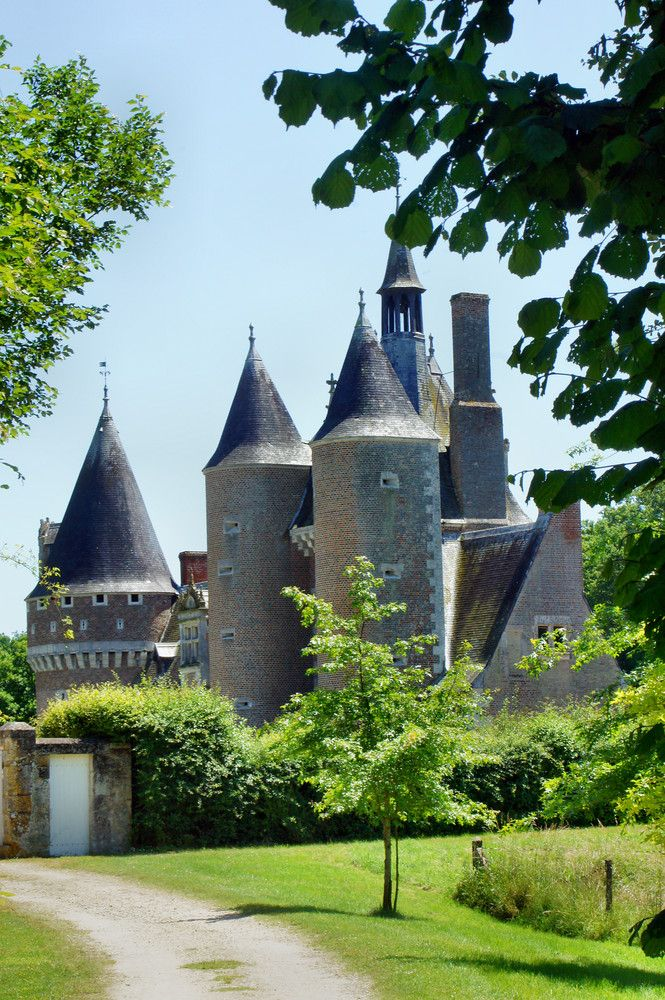 Zamki nad Loarą - zamek z truskawkami. The castles over the Loire - the castle with strawberies.