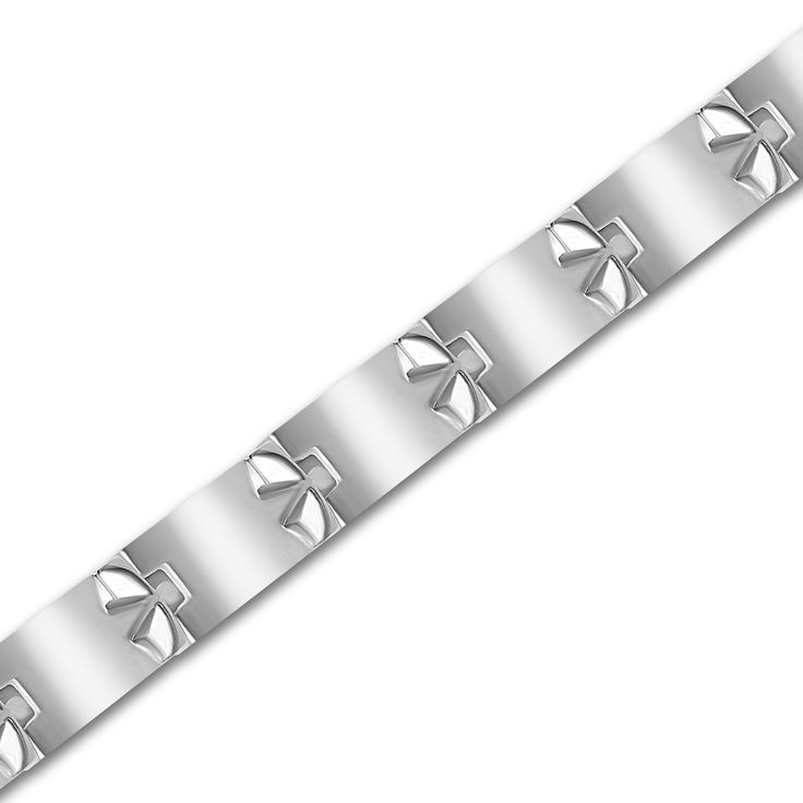 Ebay NissoniJewelry presents - Stainless Steel w/ Alternate Cross Gents Bracelet    Model Number:BRV1928-ST    http://www.ebay.com/itm/Stainless-Steel-w-Alternate-Cross-Gents-Bracelet-/222062729234