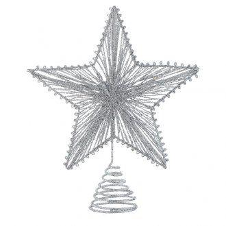 Punta del Árbol 25 cm Estrella Para el árbol de Navidad color Plateado [PR001671] - €4.99 : HolyartEl primer comercio electrónico de artículos religiosos