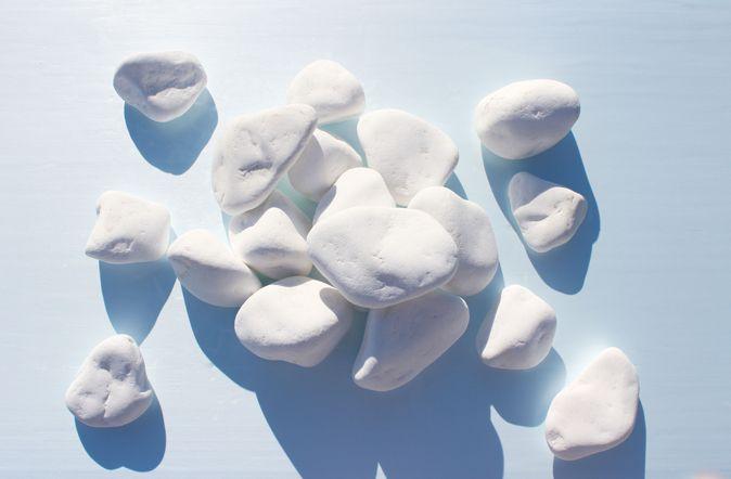 White Pebbles 4 - 8 cm