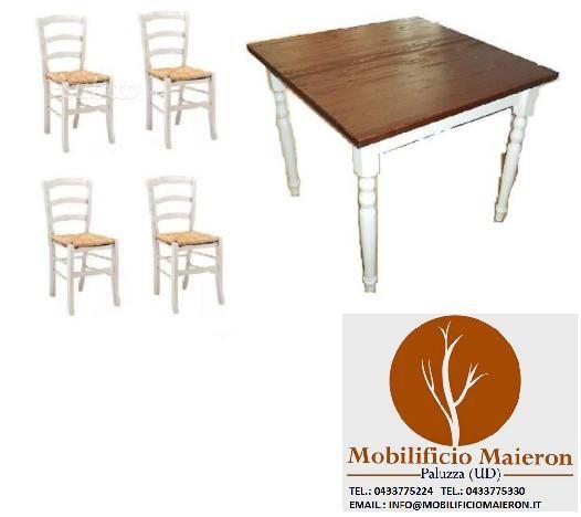 Set Tavoli sedie ristorante cod 102 shabby chic - arredamento casa - ufficio Genova