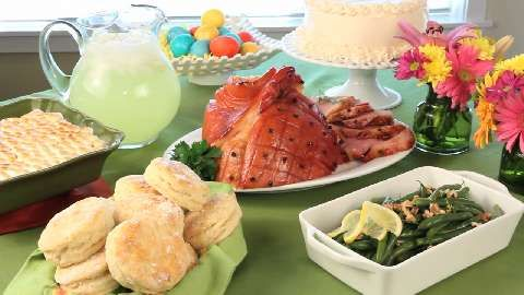 Easter Buffet!!! Eastons first Easter let's have a huge dinner!!!