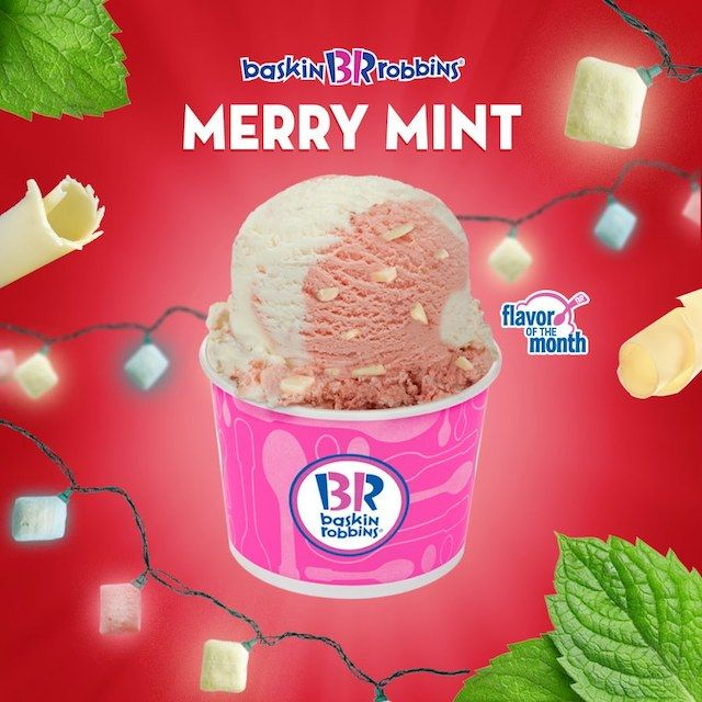Check Out Baskin Robbins Merry Mint Ice Cream Mint Ice Cream Ice Cream Baskin Robbins