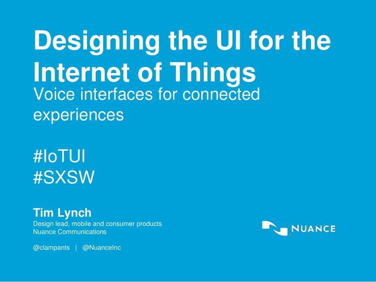 SXSW 2015: How to design user interfaces for the Internet of Things
