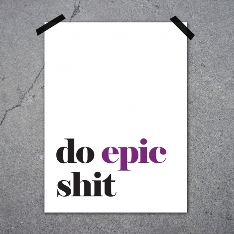 Epic by Lucky me studios at Nordic Design Collective #poster #design