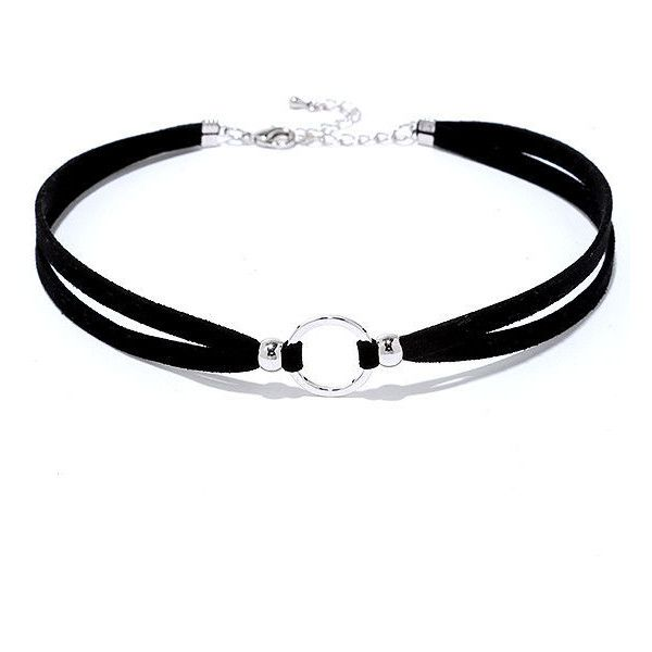 Circle Around Black and Silver Choker (379.000 VND) ❤ liked on Polyvore featuring jewelry, necklaces, silver, charm necklace, beaded choker necklace, sports jewelry, black and silver necklace and bead charms