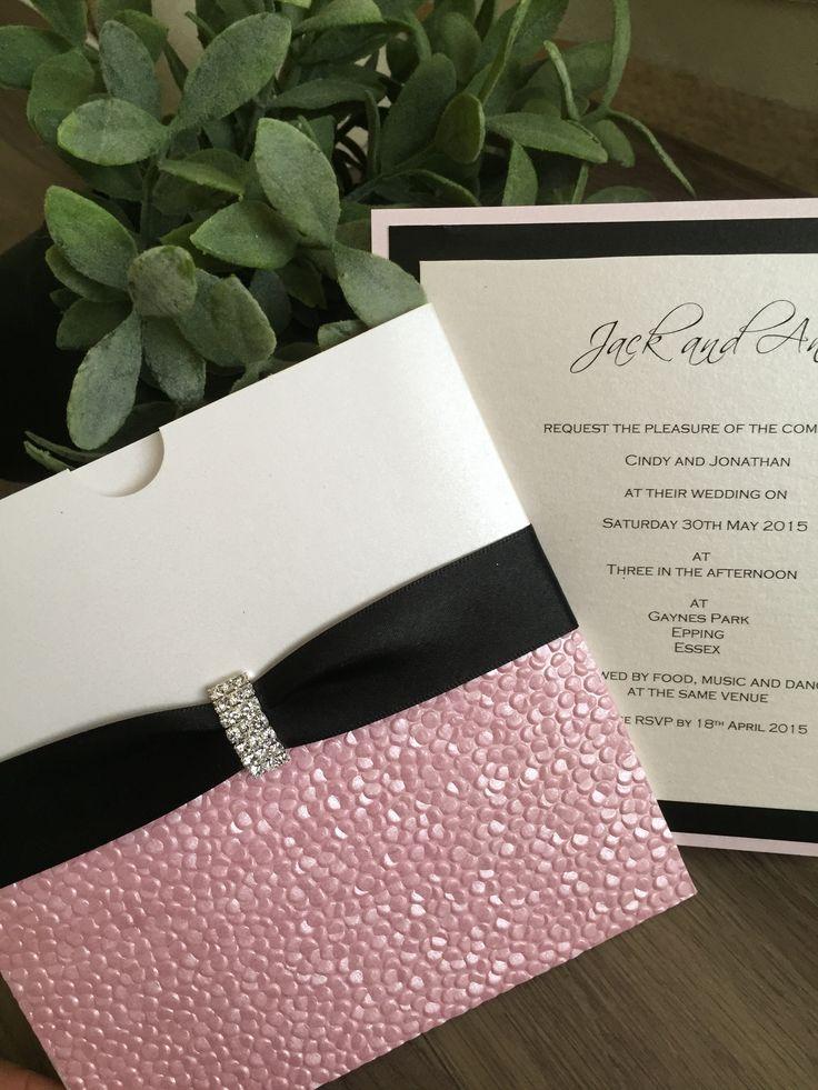 Pearl Drops Luxury Wedding Invitation by J