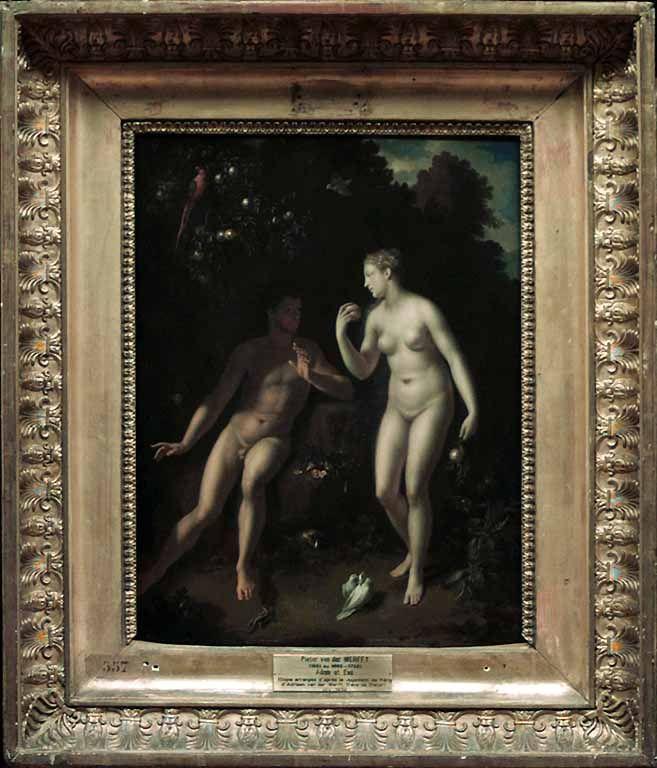Adam et Eve près de l'arbre du Bien et du Mal  Pieter van der WERFF  INV. 1939