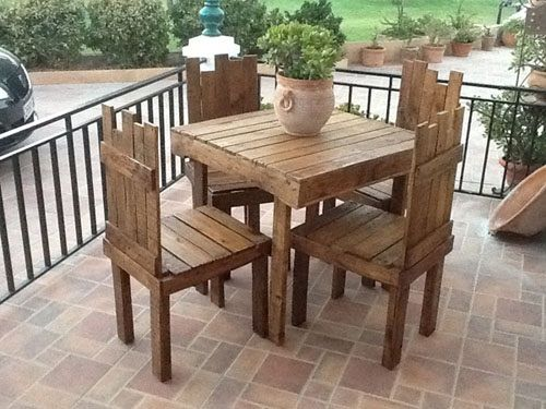 105 best images about comedor pallets on pinterest - Muebles palet sevilla ...