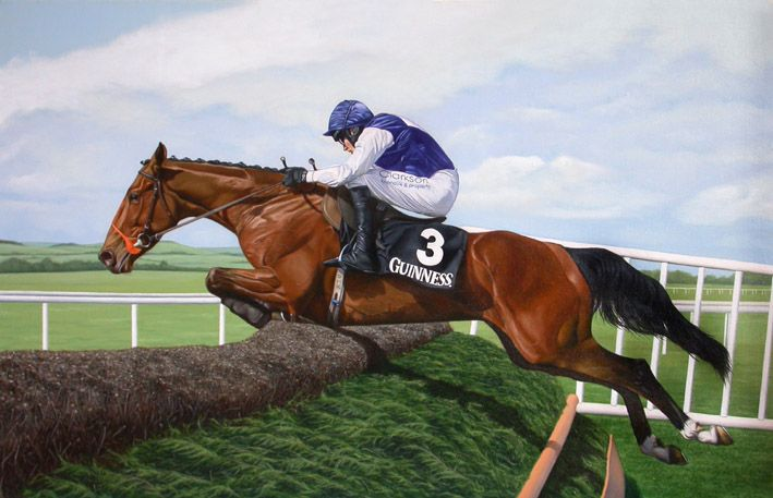 Kicking King Limited Edition Horse Racing Print by Equestrian Artist Stuart Herod