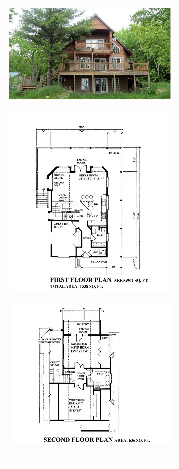 Cabin Cottage House Plan 76031 50 best