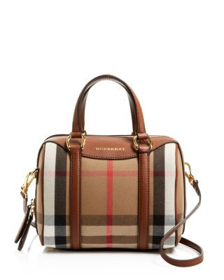 Burberry Small House Check Alchester Bowling Satchel | Bloomingdale's