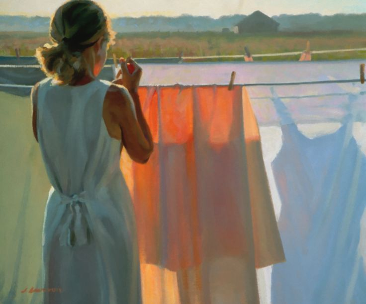 """Color of Daylight"" Jeffrey T. Larson Oil on Linen The Artist's Magazine, 2000 Annual Art Competition, Finalist: Figurative"