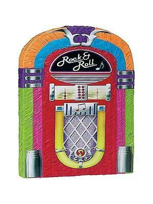 "This jukebox pinata is perfect for any party. 17 1/2"" x 3"" x 21 3/4"" This Pinata is the traditional style, so get out your Pinata bat and blindfold and get to the sweets (sold separately) Please Note:"