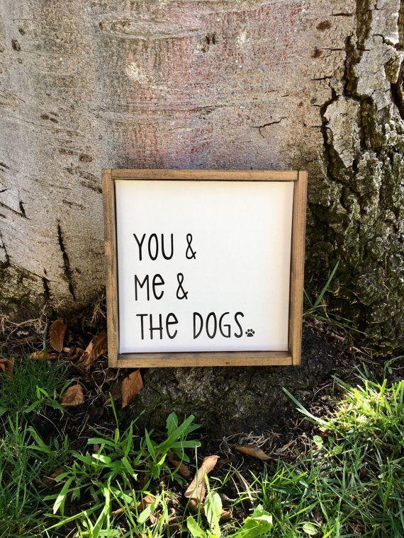 You Me & The Dogs,Rustic Home Decor,Farmhouse Decor,Rustic Sign,Farmhouse Sign,Dog Decor,Dog Sign,Animal Decor,Canvas Art,Canvas Sign