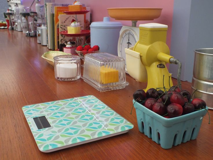 We've got some of the lovely Anna Gare's lovely kitchenware dotted around the place...