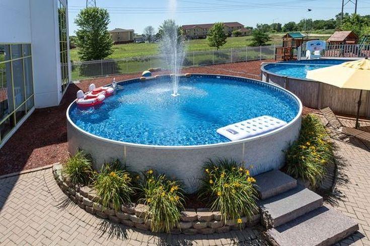 36 incríveis idéias de paisagismo piscina no solo   – Garten