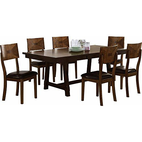 Geronimo Mid Century Modern 5 Piece Dining Table U0026 4 Side Chairs In 4 Tone  Oak