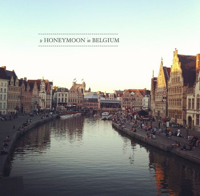 Ghent, Belgium. Been here... They told me only the cool kids sit on the right side of the river when it's sunny outside.
